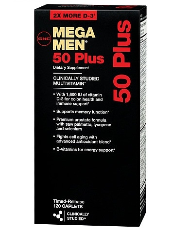 GNC Men's Mega Men 50 Plus Dietary Supplement 120 ea