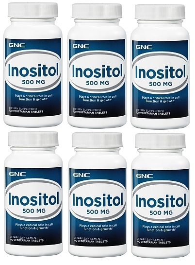 GNC Inositol 500  100tb 6 pack
