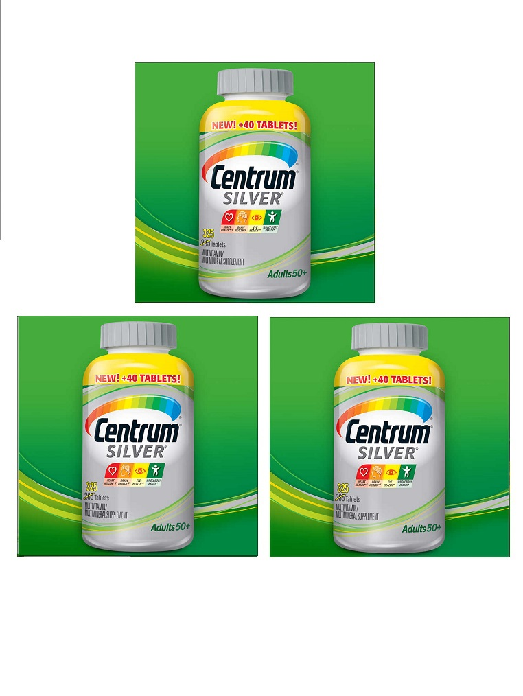 Centrum Silver Multi-vitamin/Multi-mineral With Lutein 3-bottle