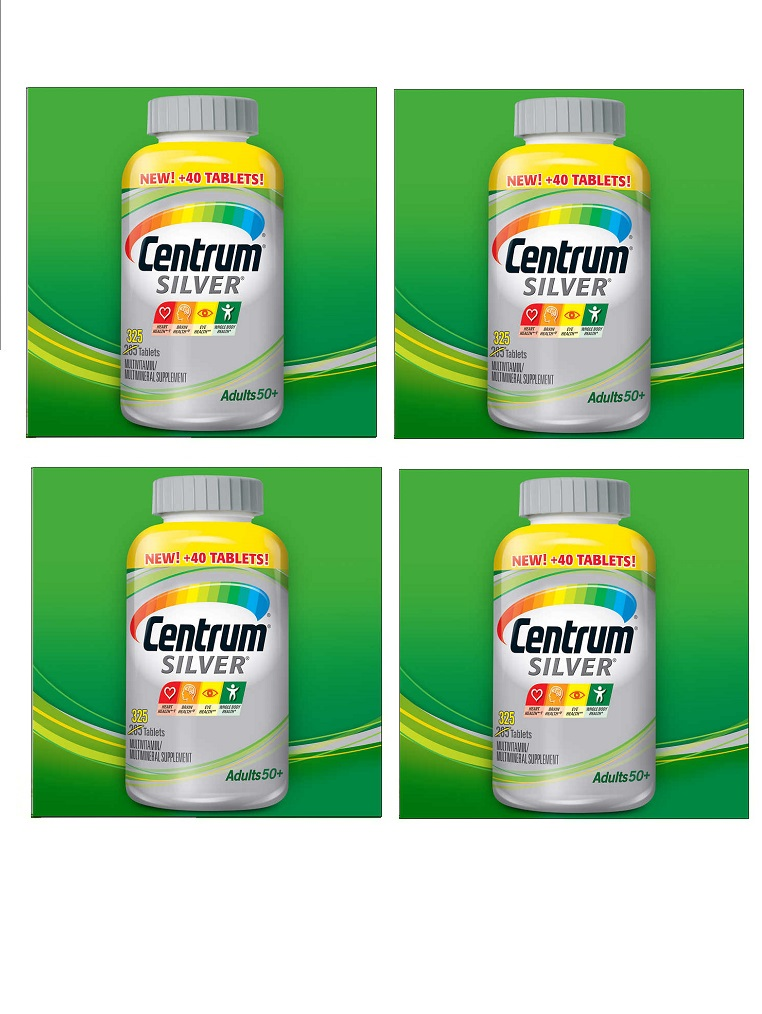Centrum Silver Multi-vitamin/Multi-mineral With Lutein 4-bottle