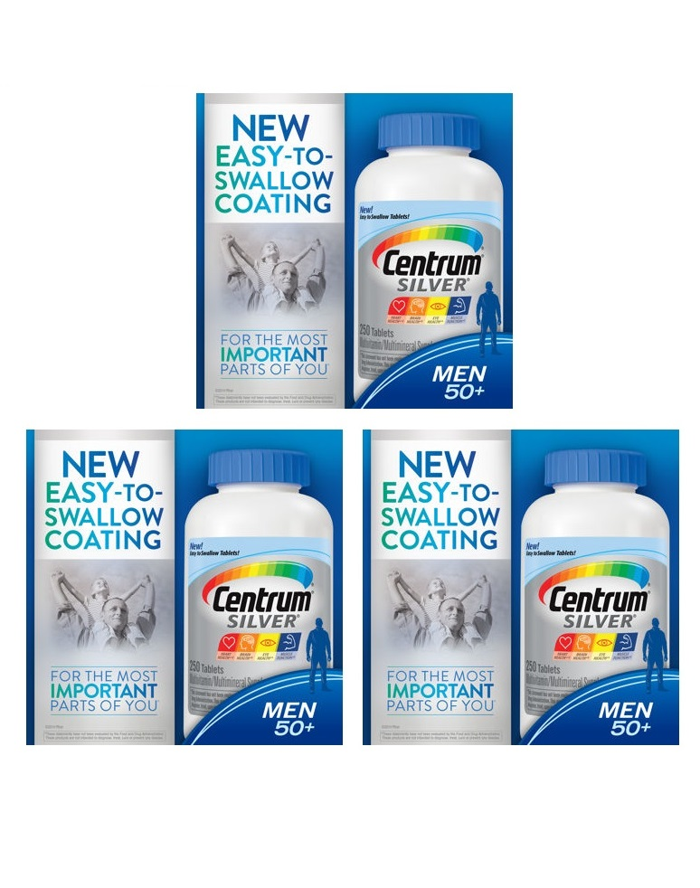 Centrum Silver Ultra Men's 250ea X 3