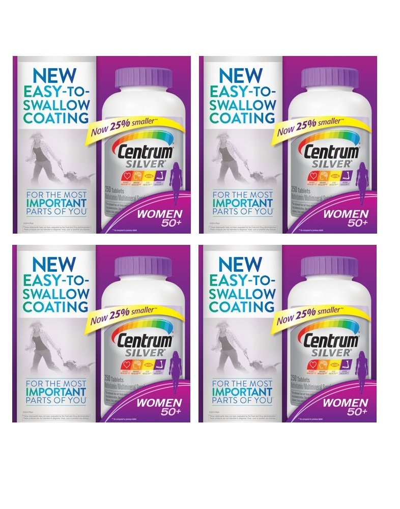 Centrum Silver Women 50+, 250 Tablets x 4