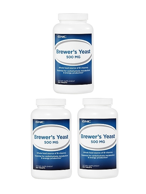 GNC A-Z Brewer's Yeast 500 mg, Tablets 500 ea x 3
