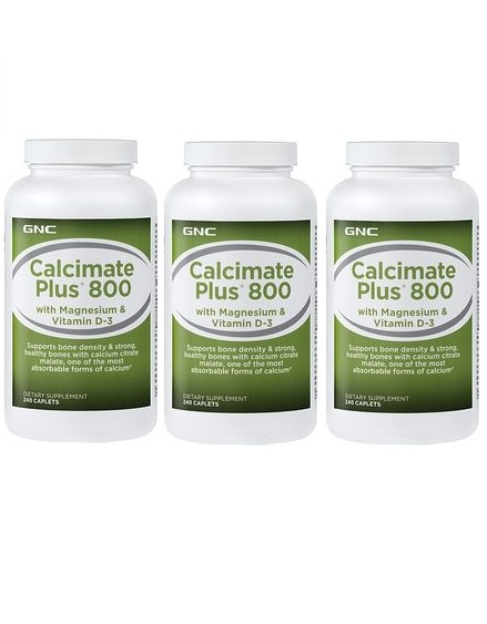 GNC Calcimate Plus 800, Calcium with Vitamin D, Tablets 240 ea(?