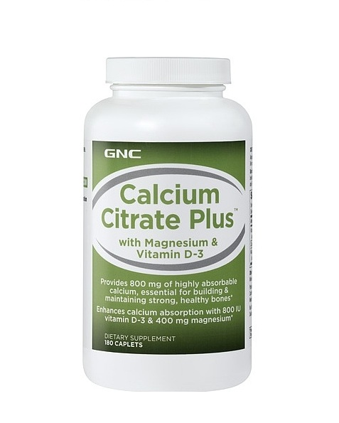 GNC Calcium Citrate Plus, Tablets 180 ea