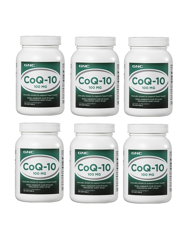 GNC CoQ-10 100mg 120 softgels x 6