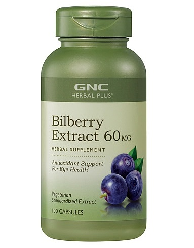GNC Herbal Plus Bilberry Exract  60mg  100Capsules