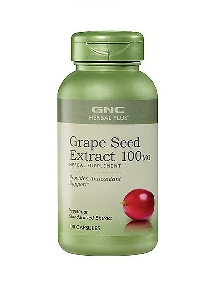 GNC Herbal Plus Grape Seed Extract Herbal Supplement, 100 Capsul