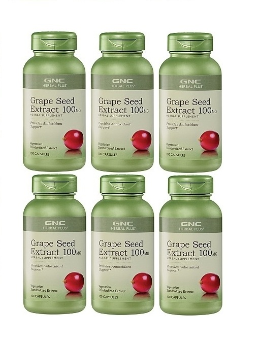 GNC Herbal Plus Grape Seed Extract Herbal Supplement, Capsules 3