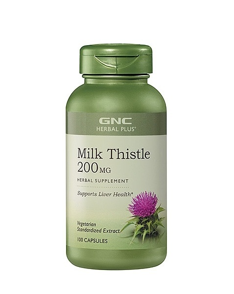 GNC Herbal Plus Milk Thistle, Vegetarian Capsules 100 ea