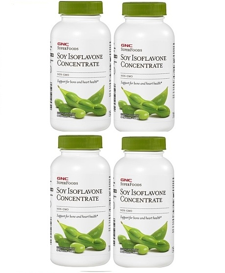 GNC SuperFoods Soy Isoflavone Concentrate, 50 mg, Capsules 90 ea