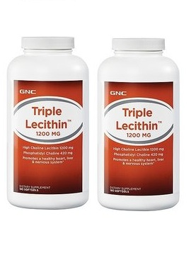 GNC Triple Lecithin 1200 mg 180 softgels x 2