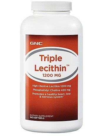 GNC Triple Lecithin 1200 mg 180 softgels