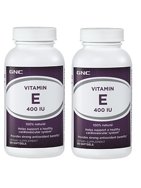 GNC A-Z Natural E 400 IU, 100% Natural d-alpha Form, 180 ea soft