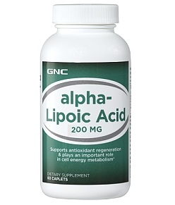 GNC Alpha Lipoic Acid 200 mg 60 Softgel Capsules