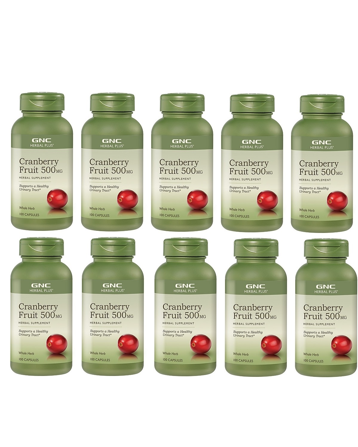 GNC Herbal Plus Cranberry, 500mg, 100 Capsules 10pk