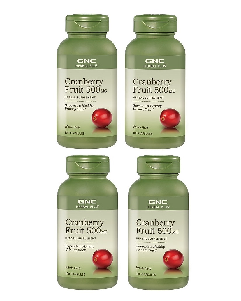 GNC Herbal Plus Cranberry, 500mg, 100 Capsules 4pk
