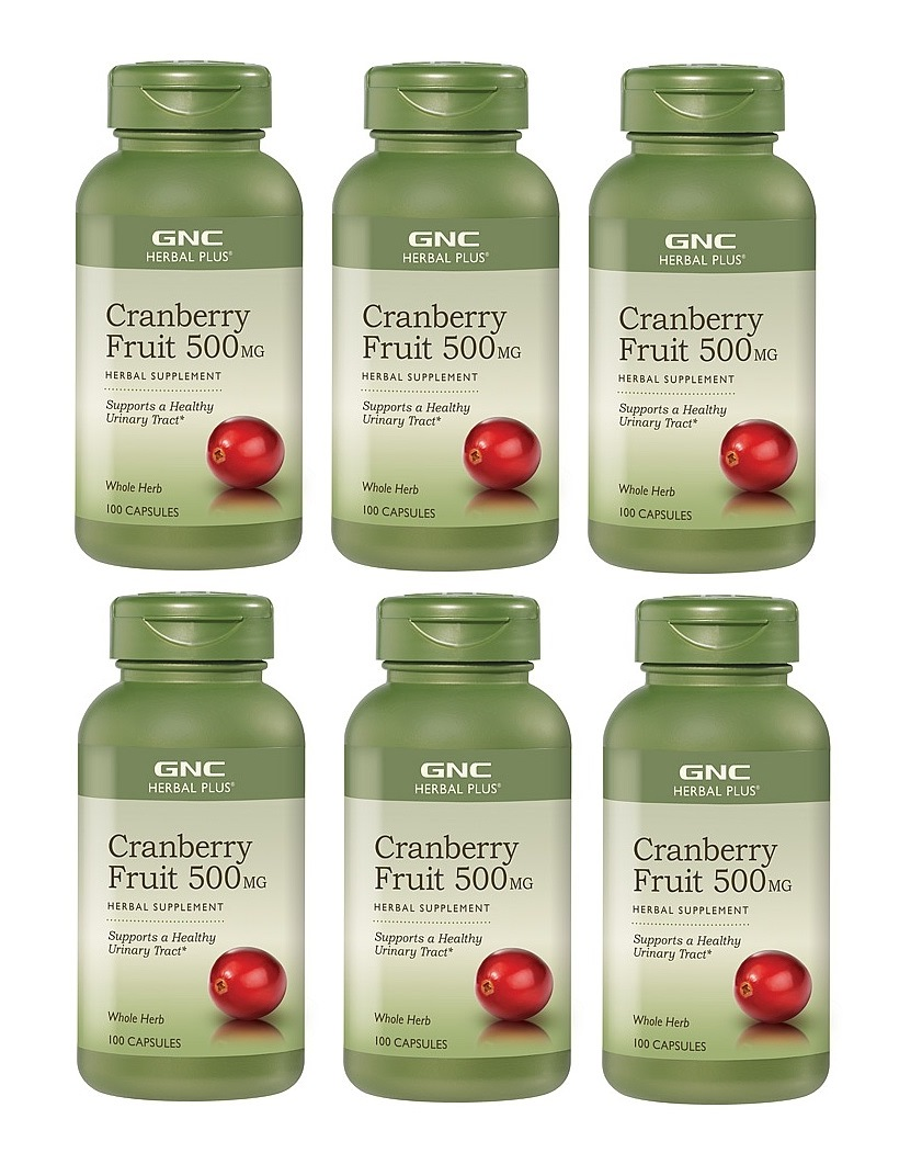 GNC Herbal Plus Cranberry, 500mg, 100 Capsules 6pk