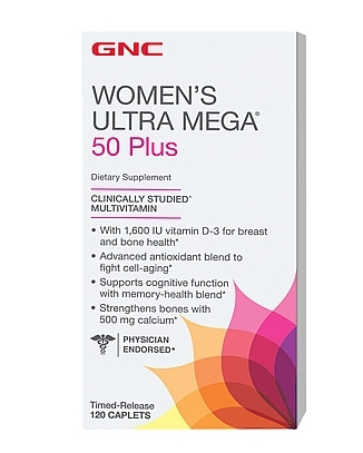 GNC Womens Ultra Mega 50 Plus 120 tbs