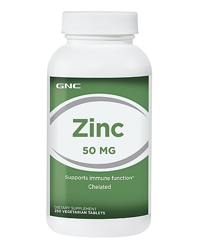 GNC Zinc 50mg, Chelated Tablets 250 ea