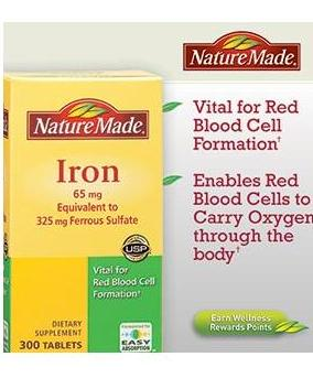 Nature Made 鐵劑 Iron  65mg 365 Tablets