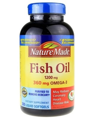 Nature Made Fish Oil 1200 mg, 200 Softgels