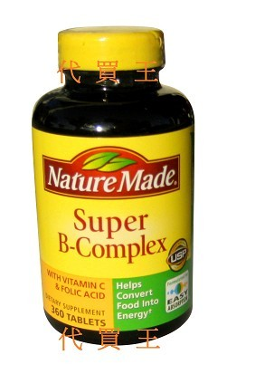 Nature Made Super B+C Complex 460 Tablets