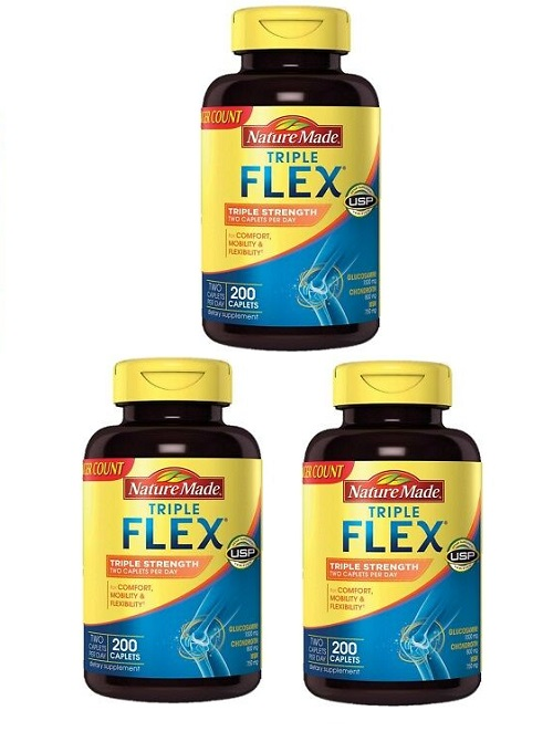 (新配方)Nature Made Triple Strength TripleFlex Glucosamine 3 pk