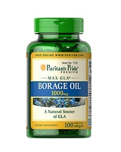 Puritan's Pride Borage Oil 1000mg  100 ea