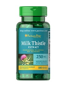 Puritan's Pride MILK THISTLE 250 mg 100 Capsules