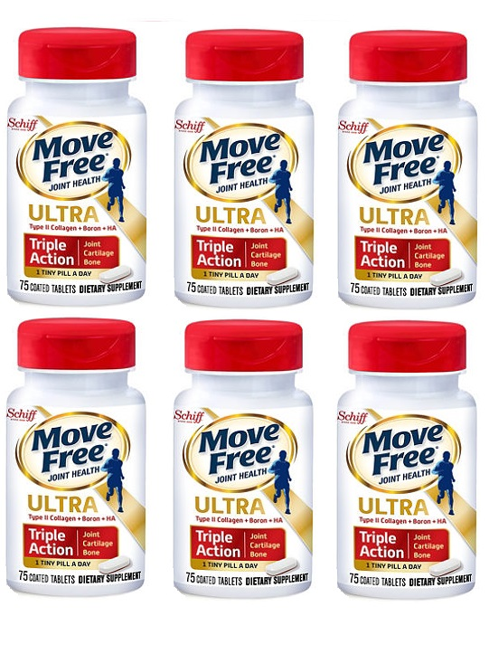 Schiff Move Free Ultra Triple Action, 75 Tablets(一組6瓶)