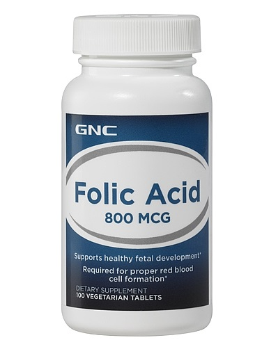 GNC A-Z Folic Acid 800 mcg, Tablets 100 ea