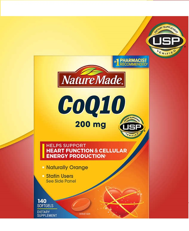 Nature Made CoQ10 200 mg - 140 Softgels