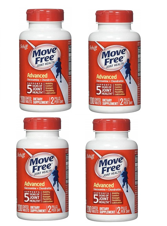 Schiff Move Free Advance 200 Tablets x 4