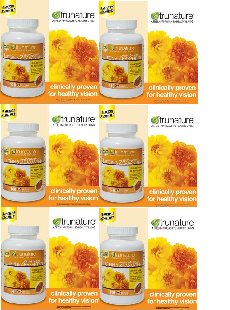 Trunature Lutein 25mg Zeaxanthin 5mg 140ea x 6