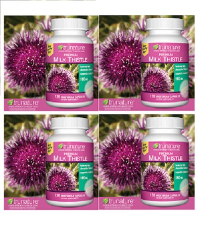 TruNature Premium Milk Thistle 160 mg - 120 Vegetarian Capsules